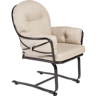 OW Lee Cambria Spring Base Club Dining Arm Chair