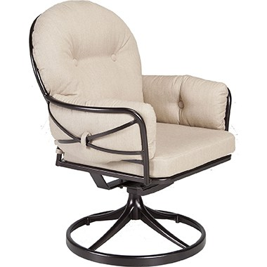 OW Lee Cambria Swivel Rocker Club Dining Chair