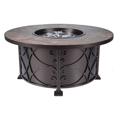 OW Lee Viento Chat Round Height Fire Pit