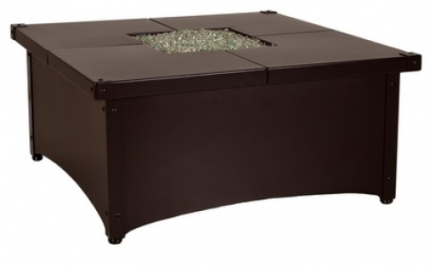 OW Lee Aero Square Fire Pit Table
